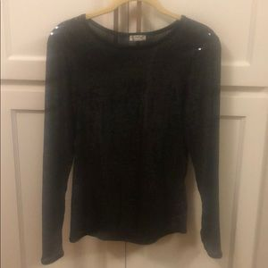 NWT Free People black sequin shirt size medium